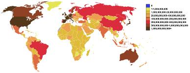 Рис. Внешний долг стран на октябрь 2011 г.